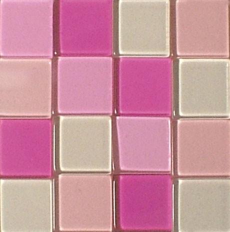 Mosaic Acryl, 1 x 1 cm, ca. 50 g, transparent, rosè