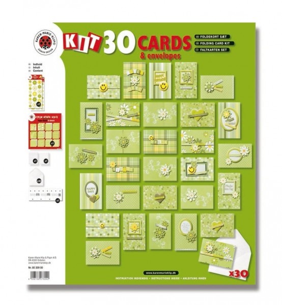 Bastelset Faltkarten, 30 Stück inkl. Kuverts