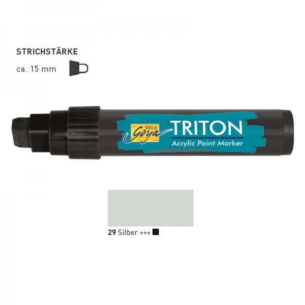 SOLO GOYA TRITON Acrylic Paint Marker 15.0 - Silber