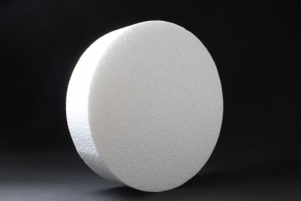 Styropor-Scheibe, Ø 25 cm, Stärke 7 cm