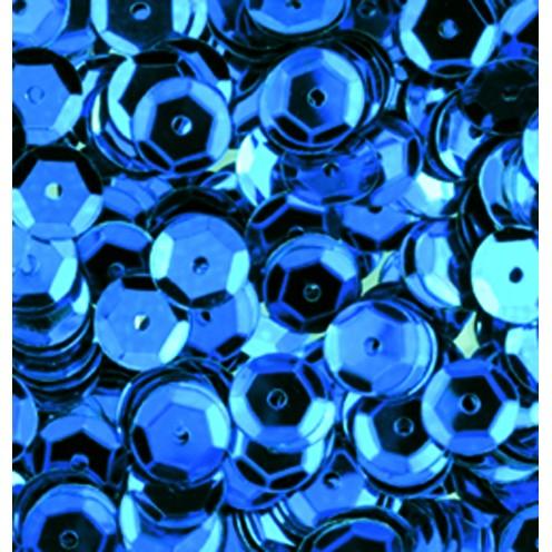 Pailletten, rund, gewölbt, 6 mm, 4000 St, hellblau